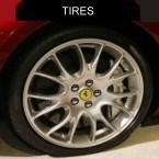 Tires fitted for the Ferrari Fiorano 599 GTB